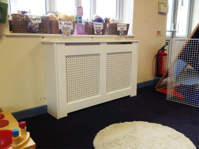 Storage Heater Cover Finished In Satin White
